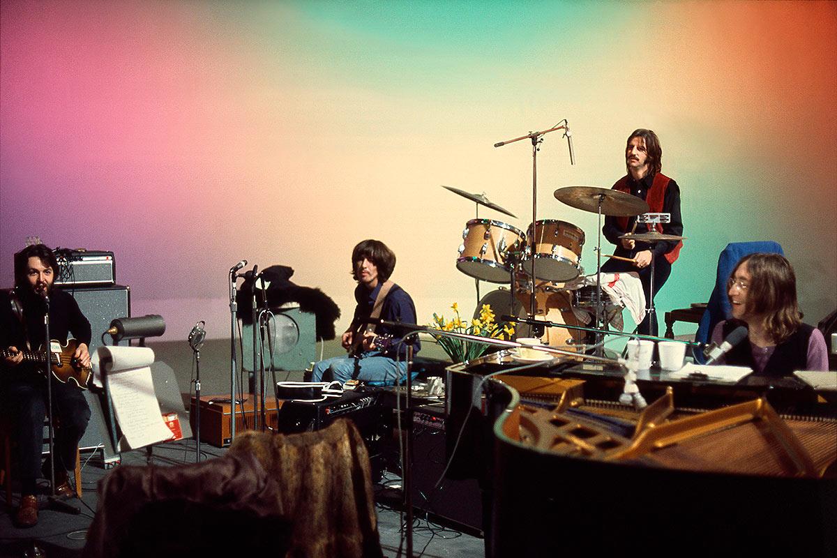 The Beatles durante la grabación de Let It Be, 1969