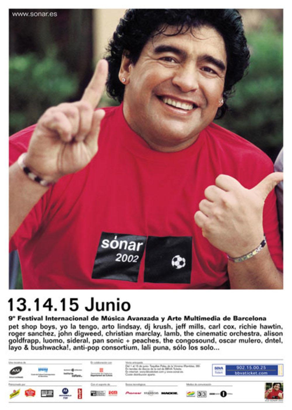 Cartel promocional de Sónar 2002