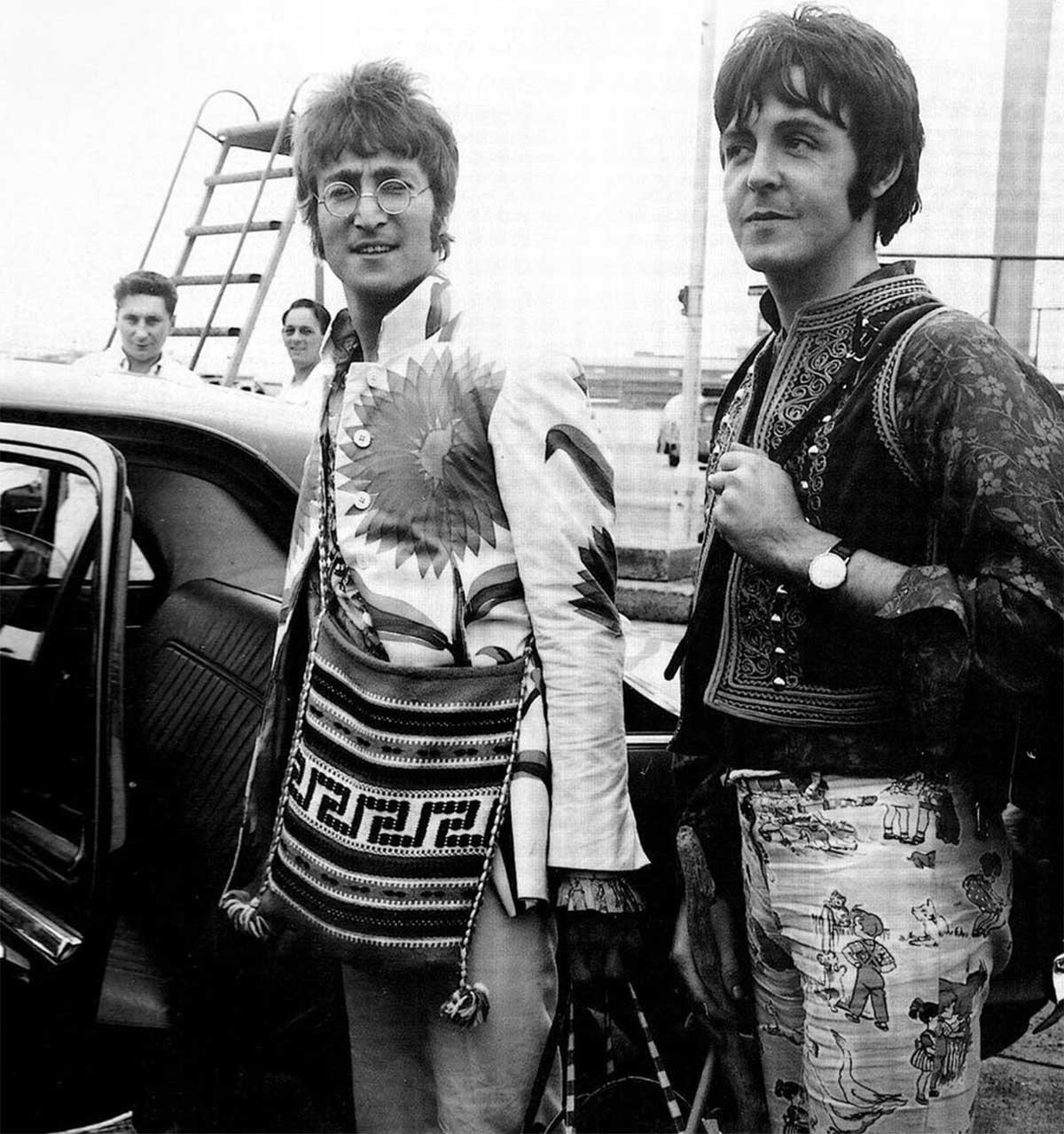 John Lennon y Paul McCartney en Grecia, 1967