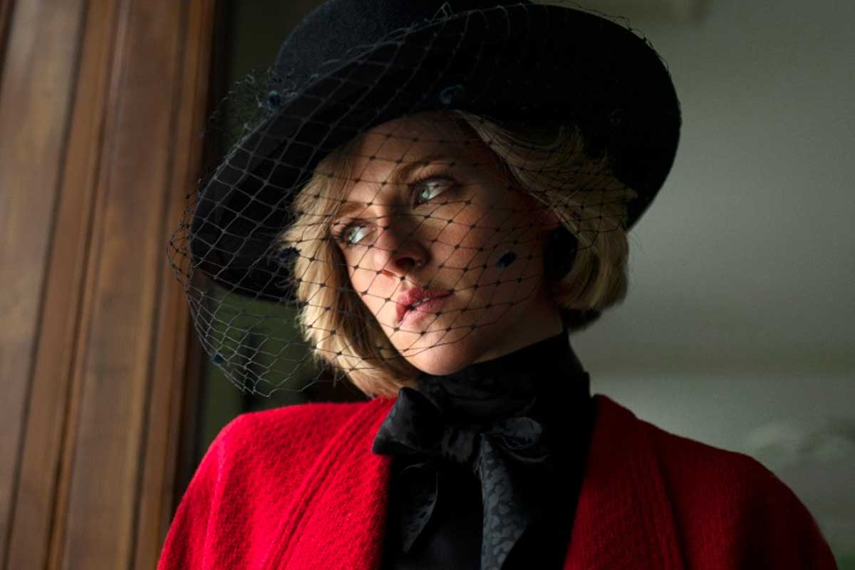 Kristen Stewart como Lady Diana en la película Spencer