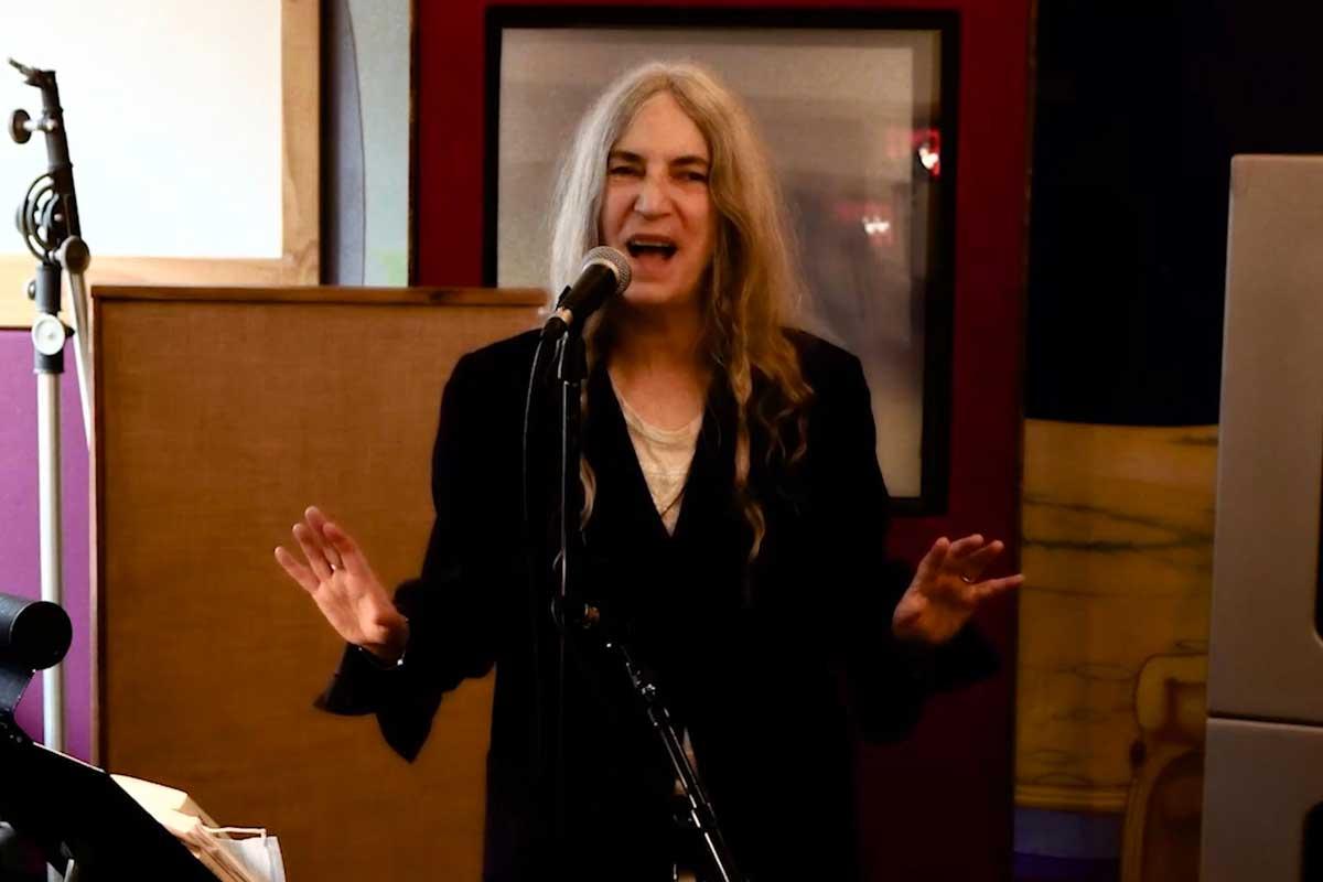 Patti Smith en el evento virtual que celebró la asunción de Joe Biden