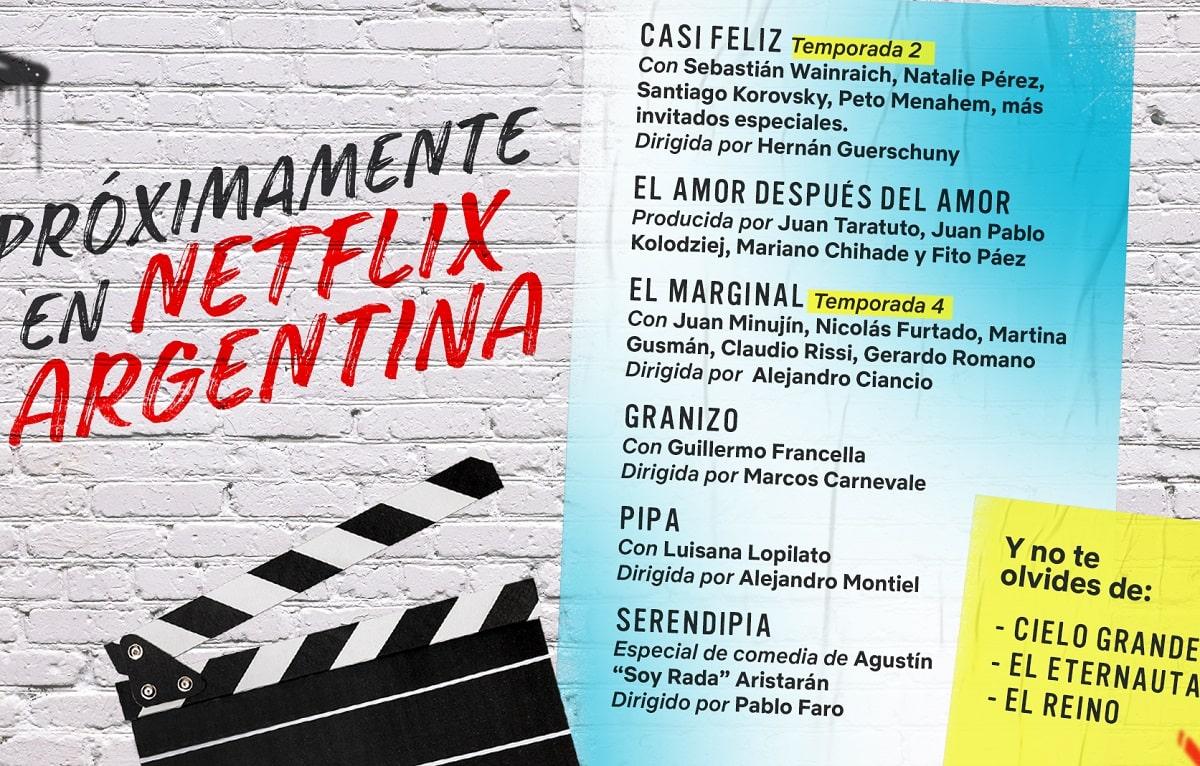 Netflix anuncia las producciones argentinas para 2021