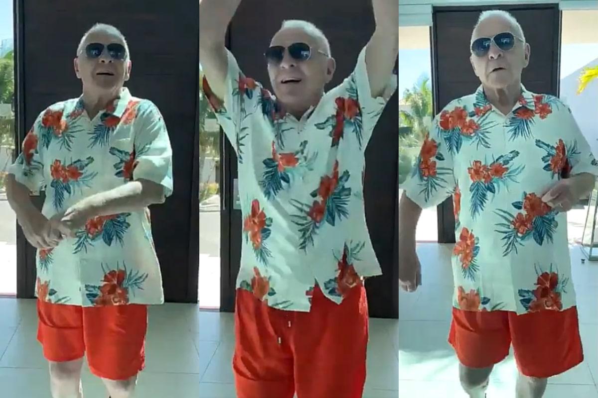 Anthony Hopkins se vuelve viral en TikTok bailando al ritmo de Elvis Crespo