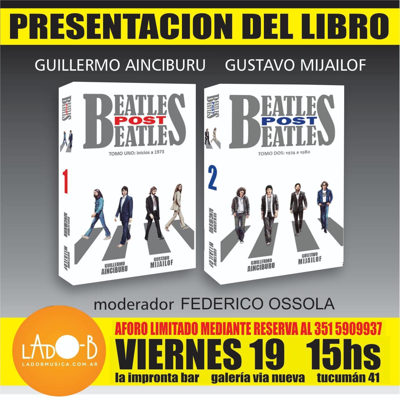 Presentación del libro Beatles post Beatles en Córdoba