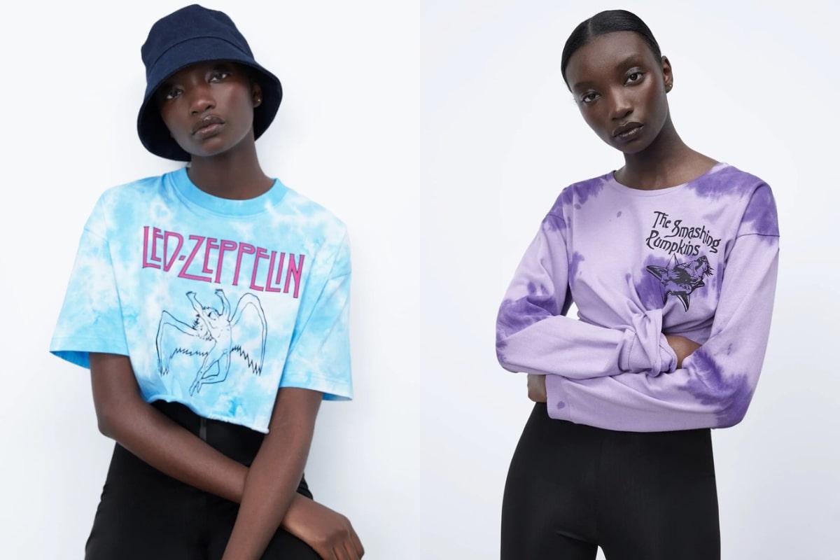 La colección de Zara basada en famosas bandas.
