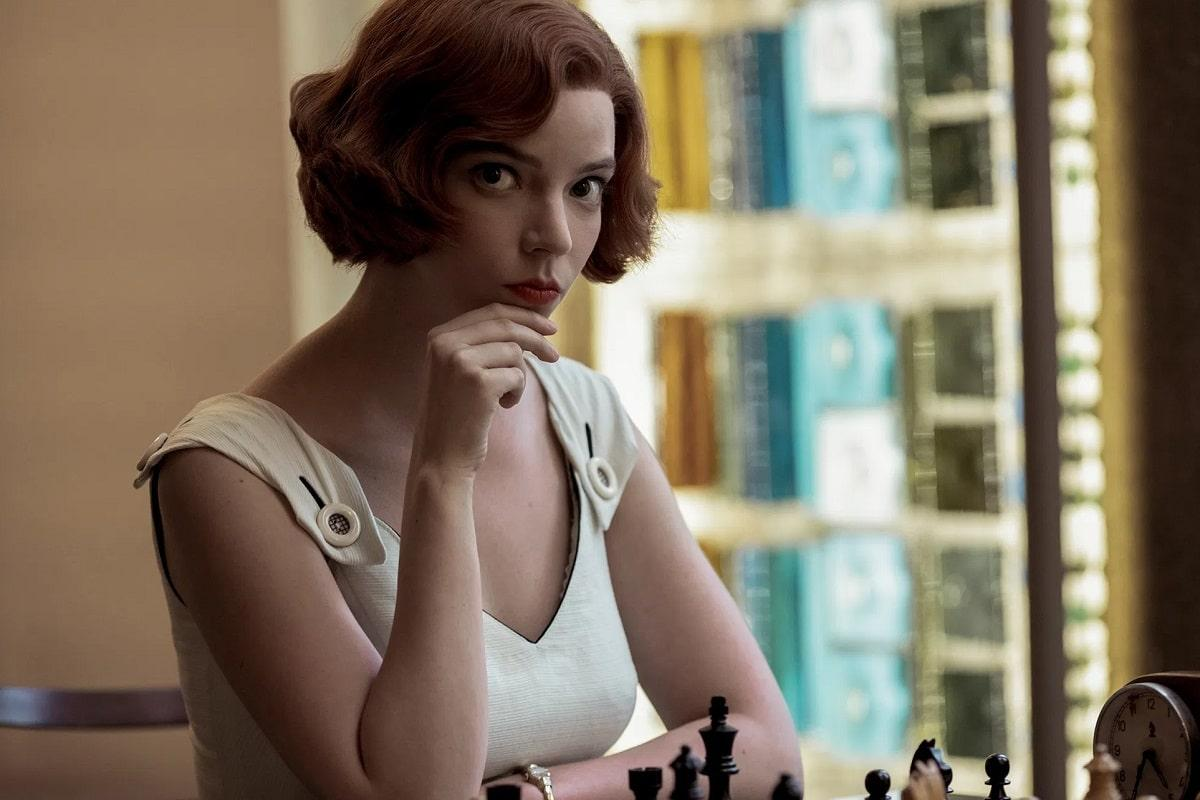 Anya Taylor-Joy en Gambito de Dama.