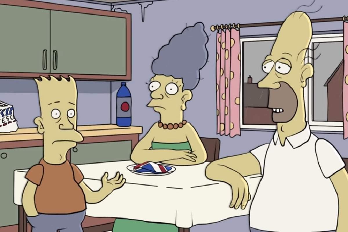 Los Simpson: Así se verían sus personajes si fuera una familia británica