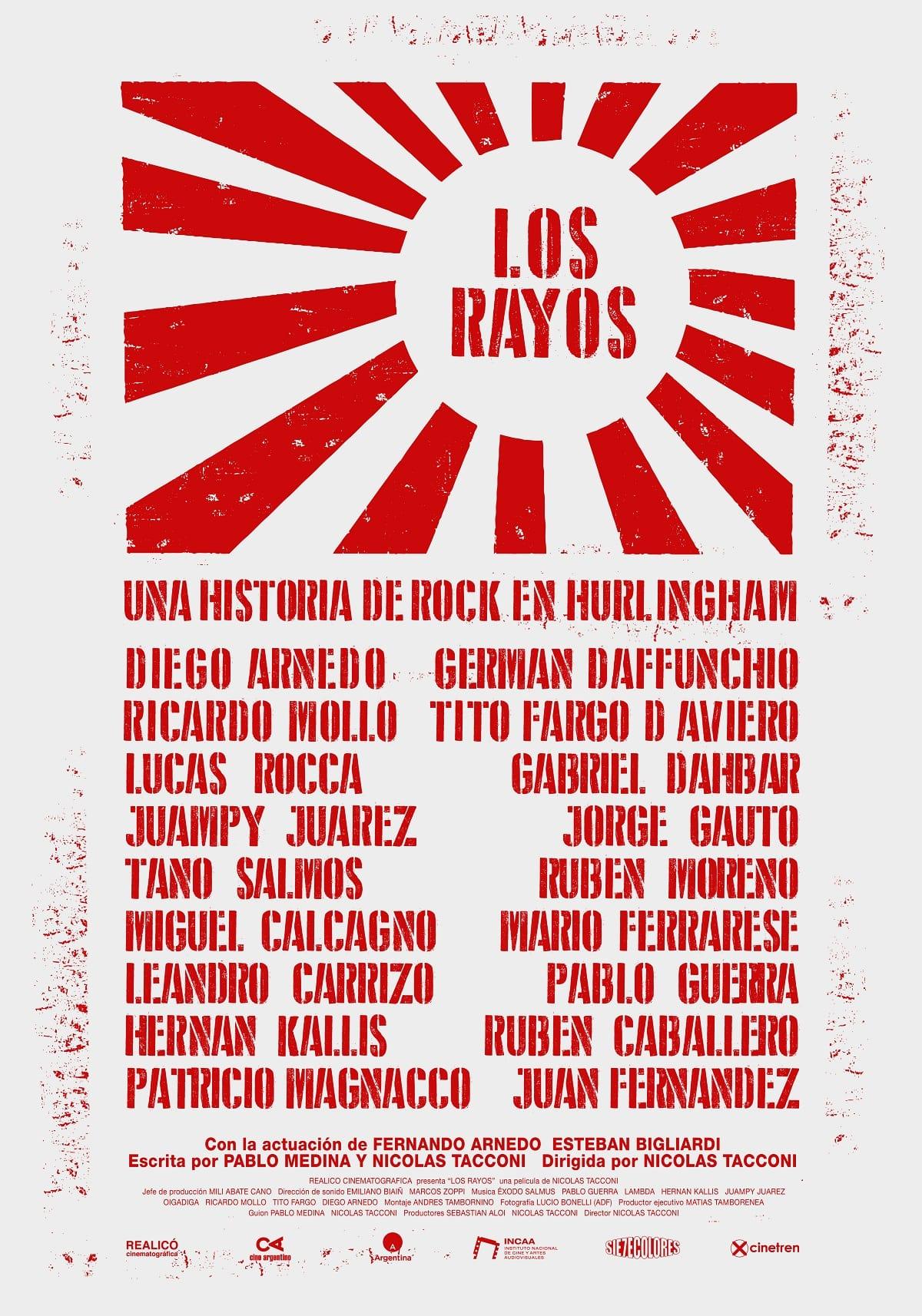 Póster de Los Rayos, documental de Nicolás Tacconi.