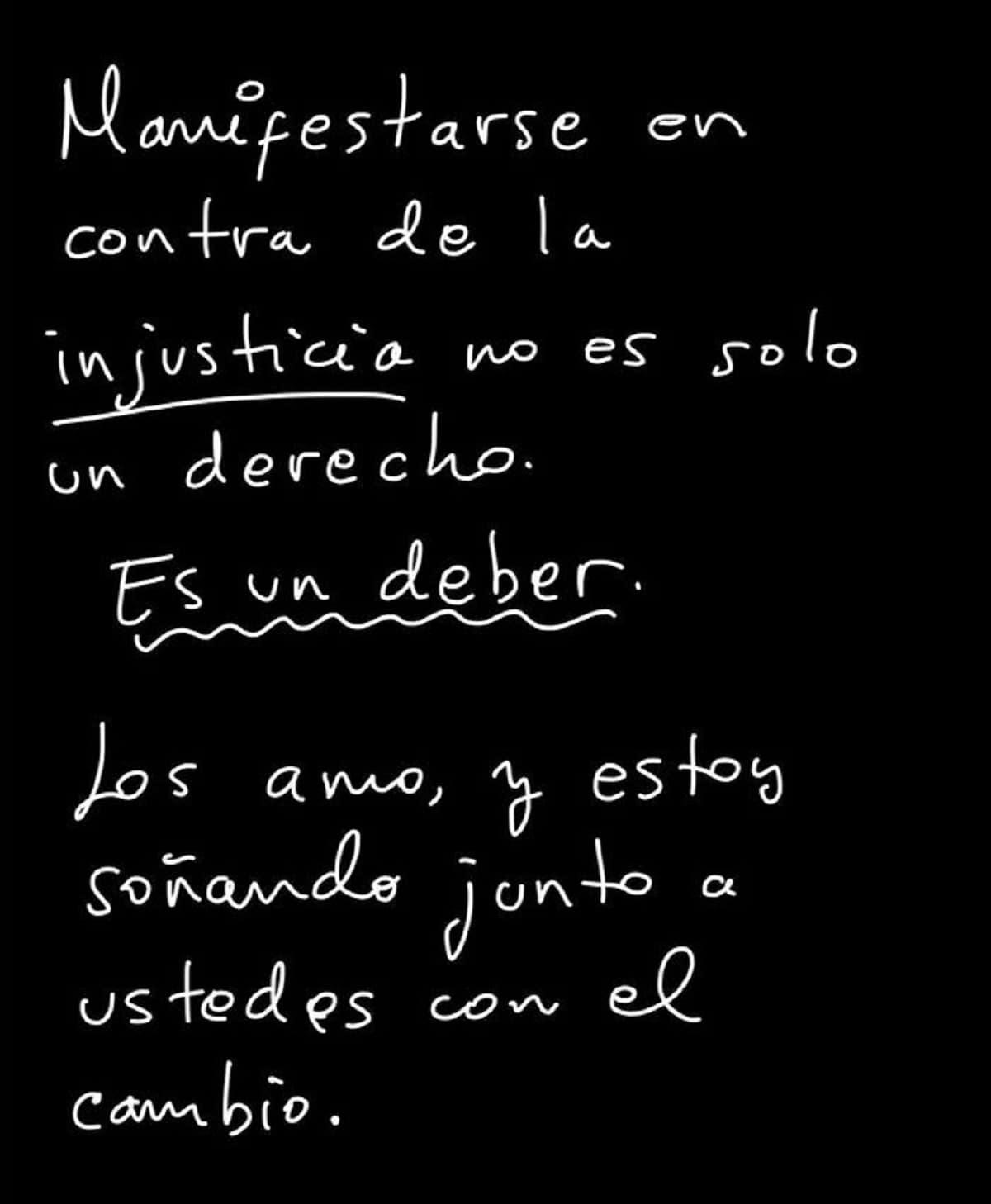 Mensaje publicado por Camilo desde Twitter