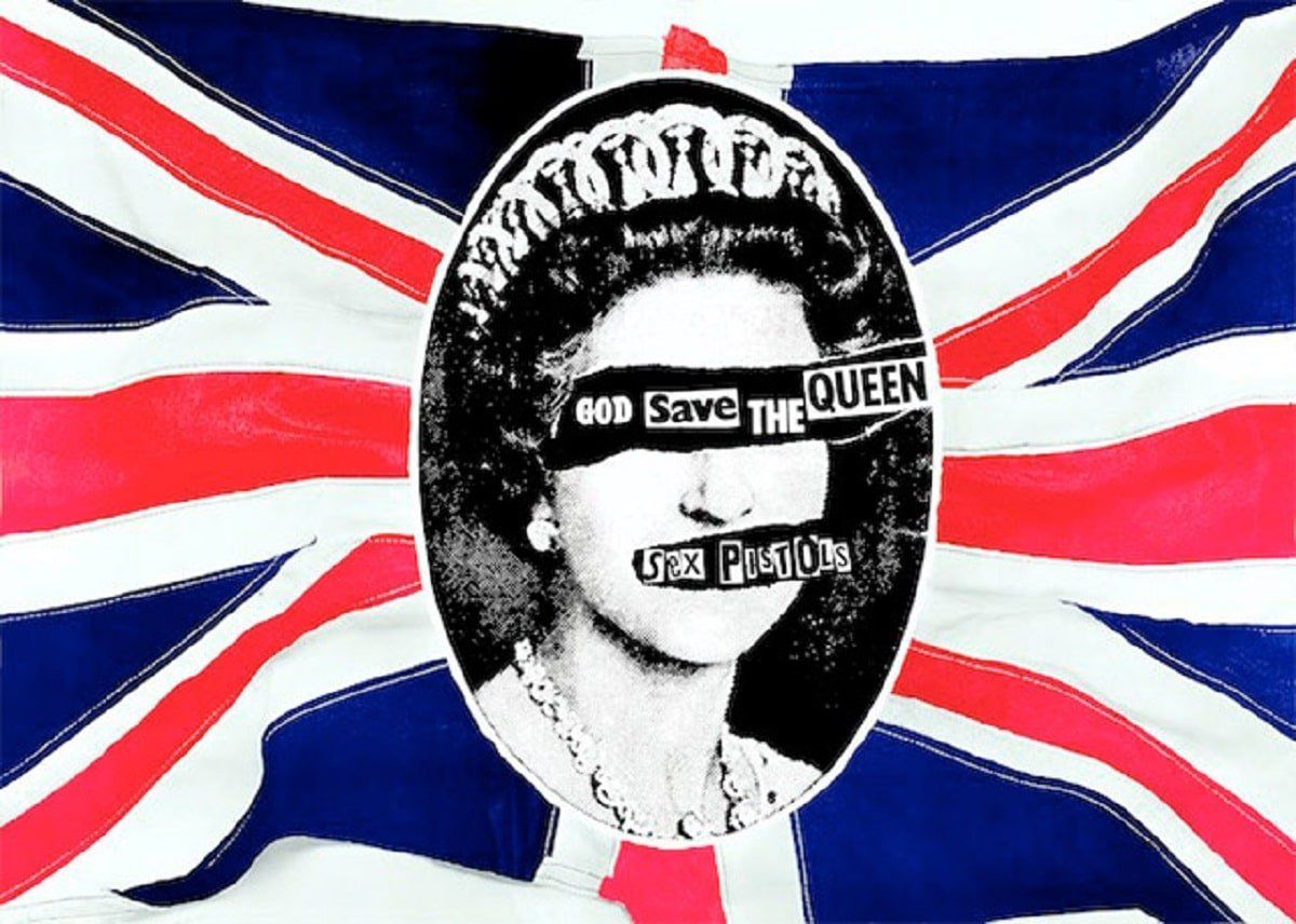 """""""God Save the Queen"""" - Sex Pistols."""