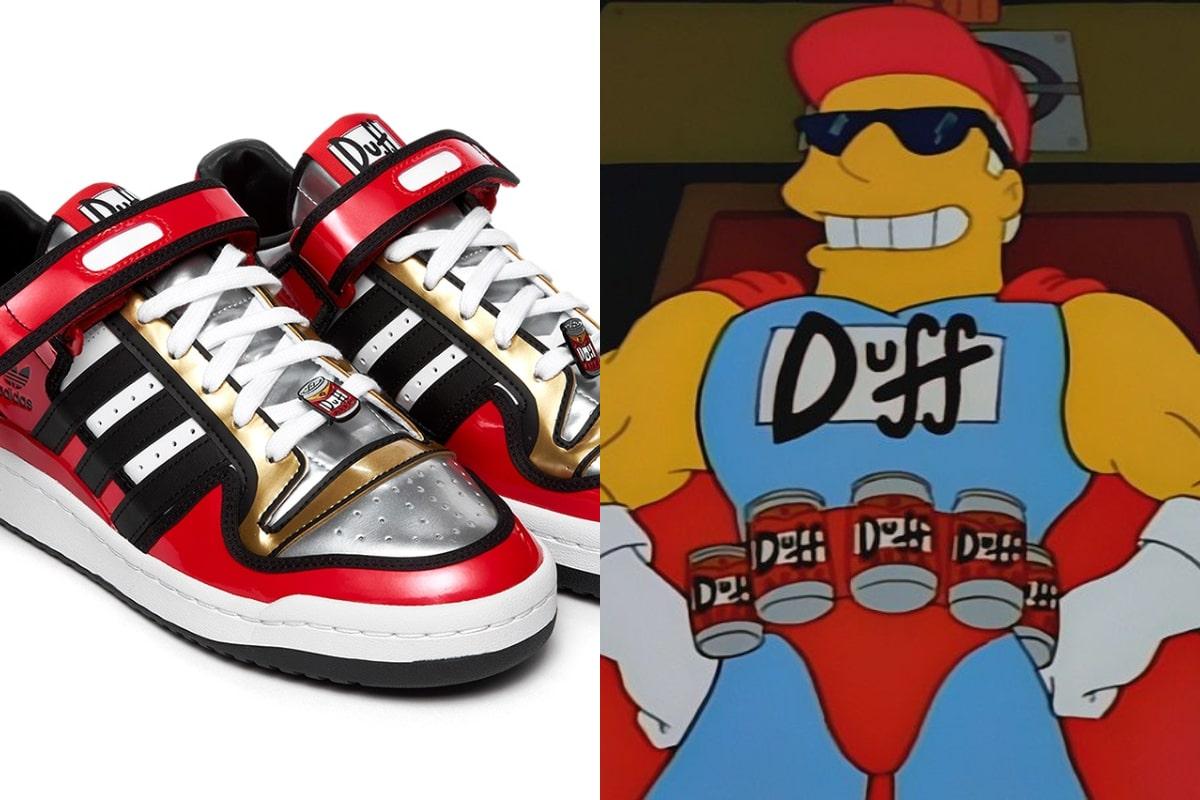 Adidas presenta un modelo de zapatillas inspirado en la cerveza Duff de Los Simpson