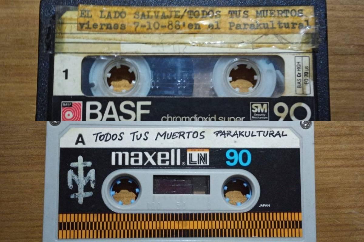 Los cassettes recuperados.