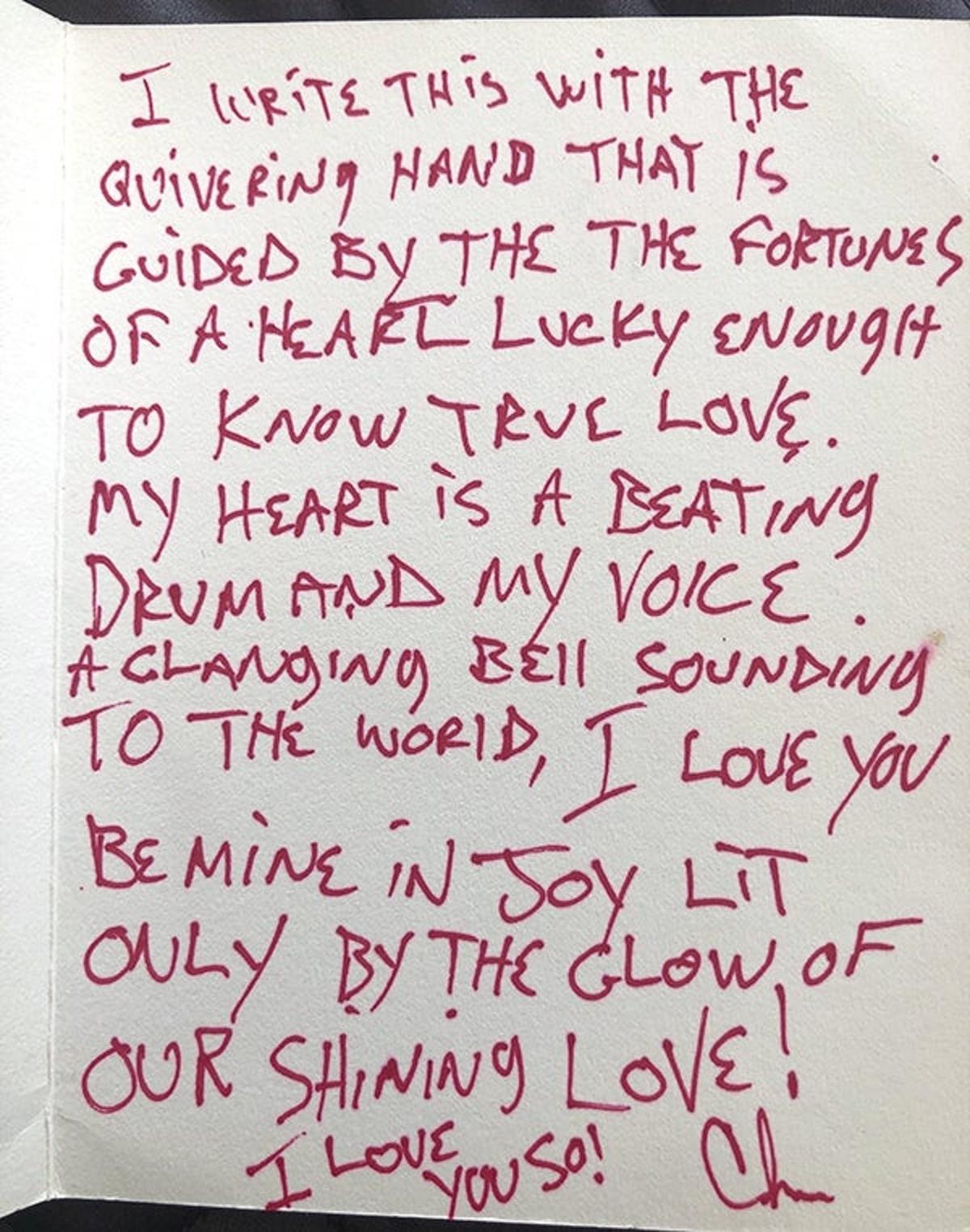 La carta de Chris Cornell a su esposa Vicky