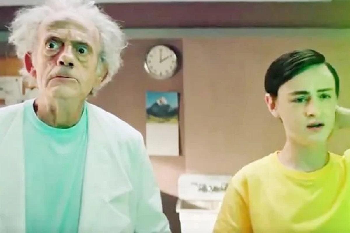 Rick & Morty: Comparten un teaser live-action con Christopher Lloyd de Volver al futuro