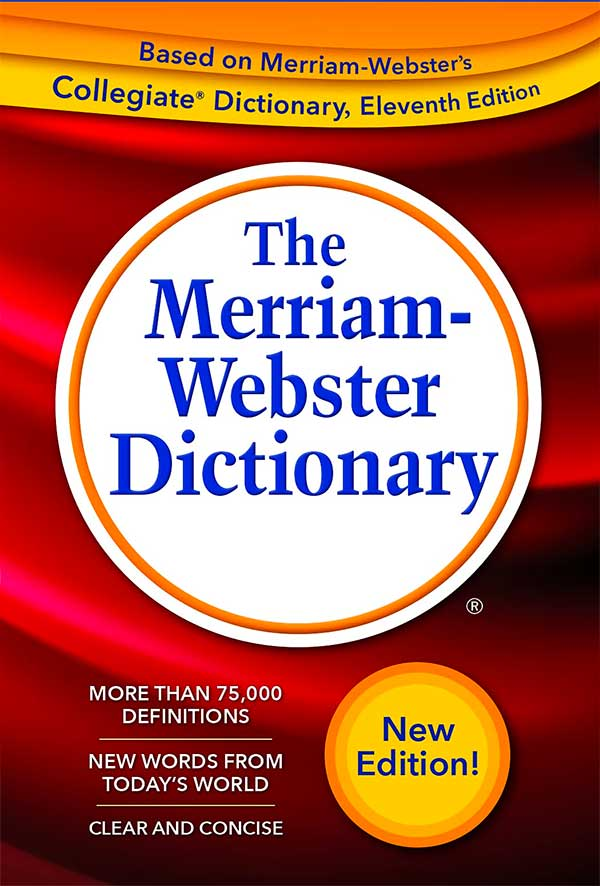 Tapa del diccionario de Merriam-Webster