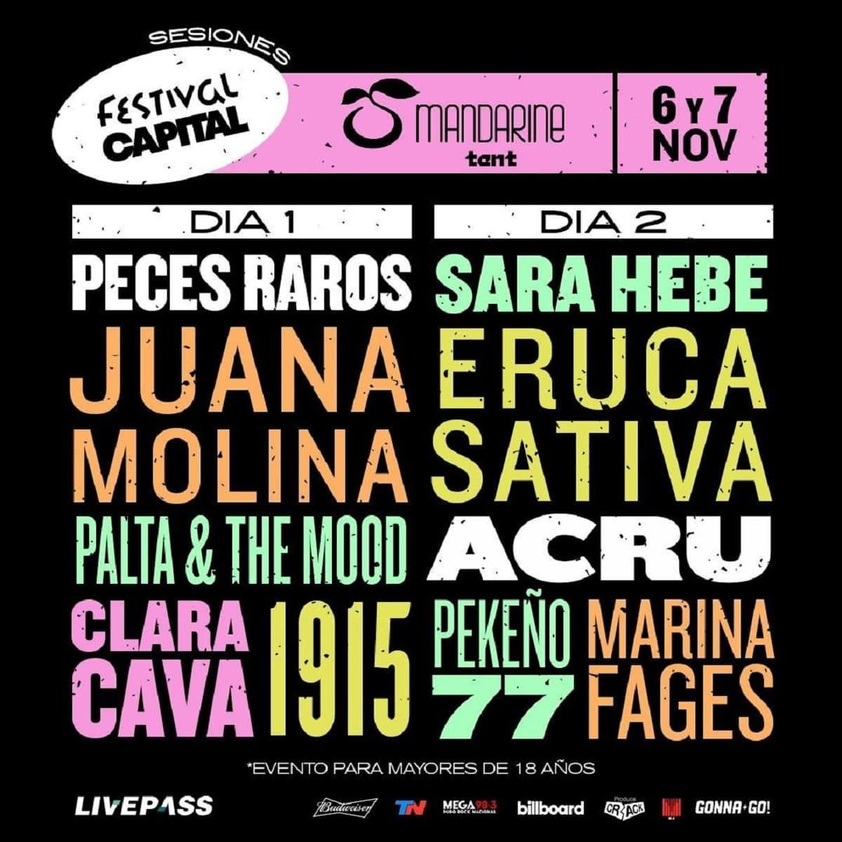 El line-up del Festival Capital.
